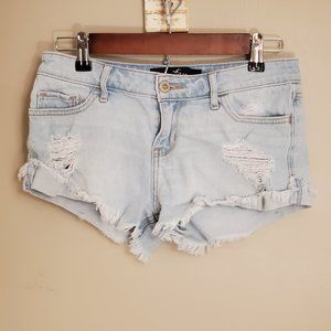Hollister Distressed Low Rise Jean Shorts